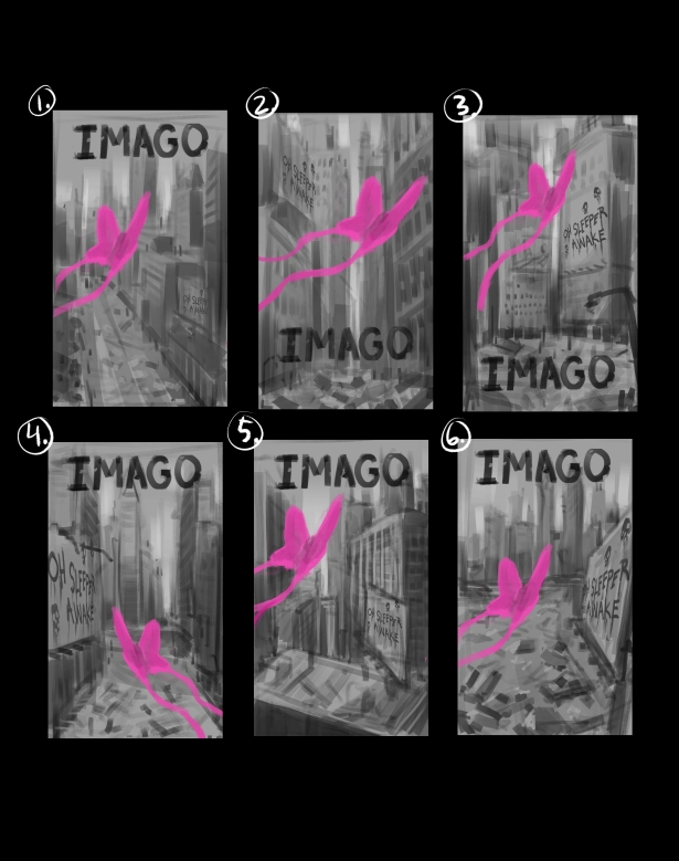 IMAGO book cover sketches
